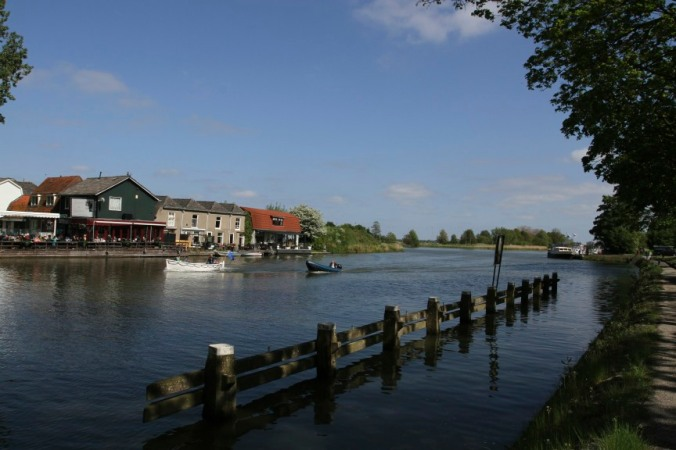 Boats on the River Vecht, Weesp, Netherlands