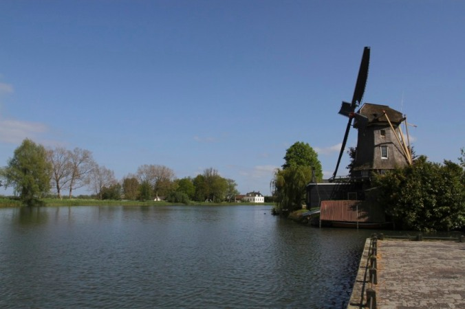 Windmills on the River Vecht, Weesp, Netherlands