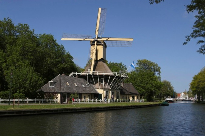 Windmill near Weesp, Netherlands