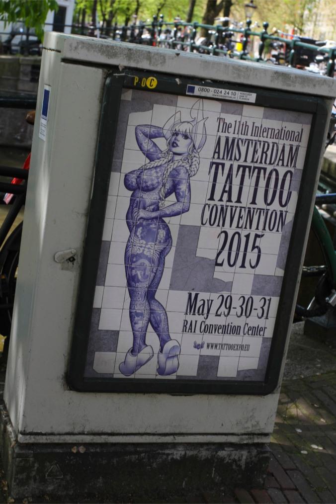 Tattoo advert, Amsterdam, Netherlands