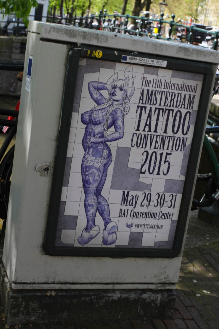 Tattoo advert, Amsterdam, Netherlands