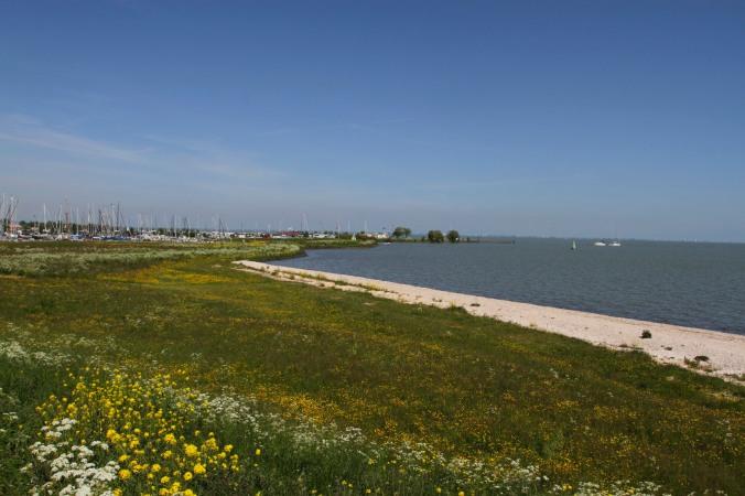 Cycling along the IJsselmeer, Waterland to Volendam, Netherlands