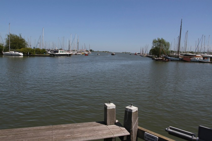 The view to the Markermeer, Monnickendam, Netherlands
