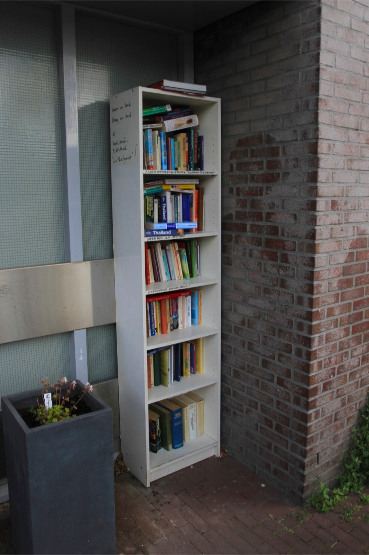 Street book library, Amsterdam, Netherlands