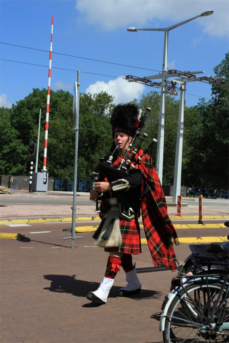 Highland piper, Amsterdam, Netherlands