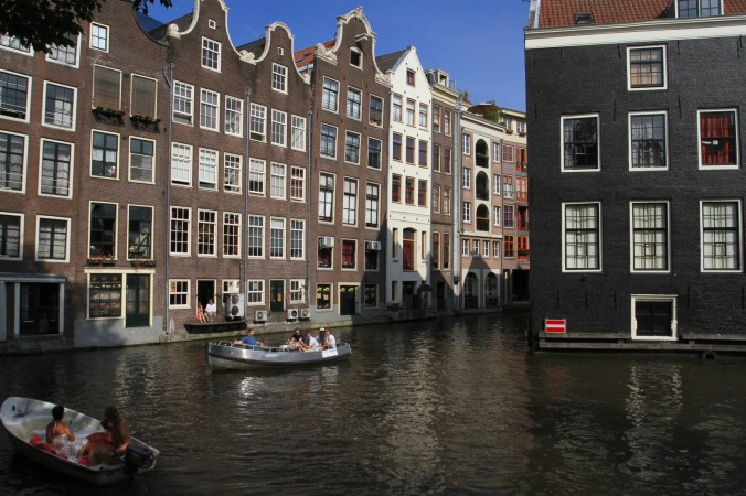 Canals and boats, Amsterdam, Netherlands