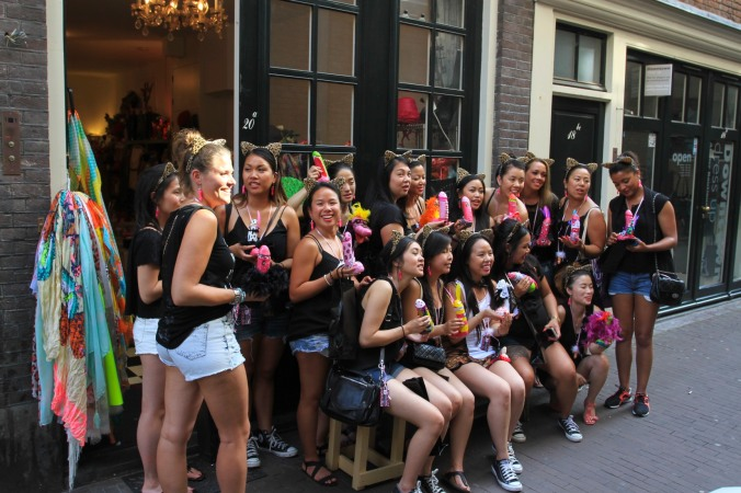 Hen Night, Red Light District, Amsterdam, Netherlands