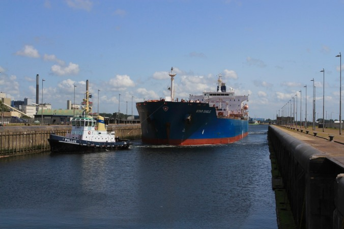 Ship on the North Sea Canal, Netherlands