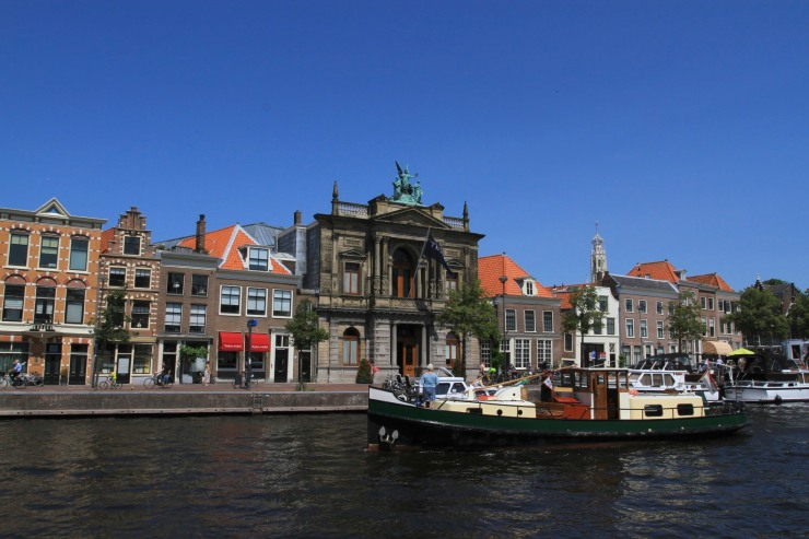 Teylers Museum on the Spaarne River, Haarlem, Netherlands