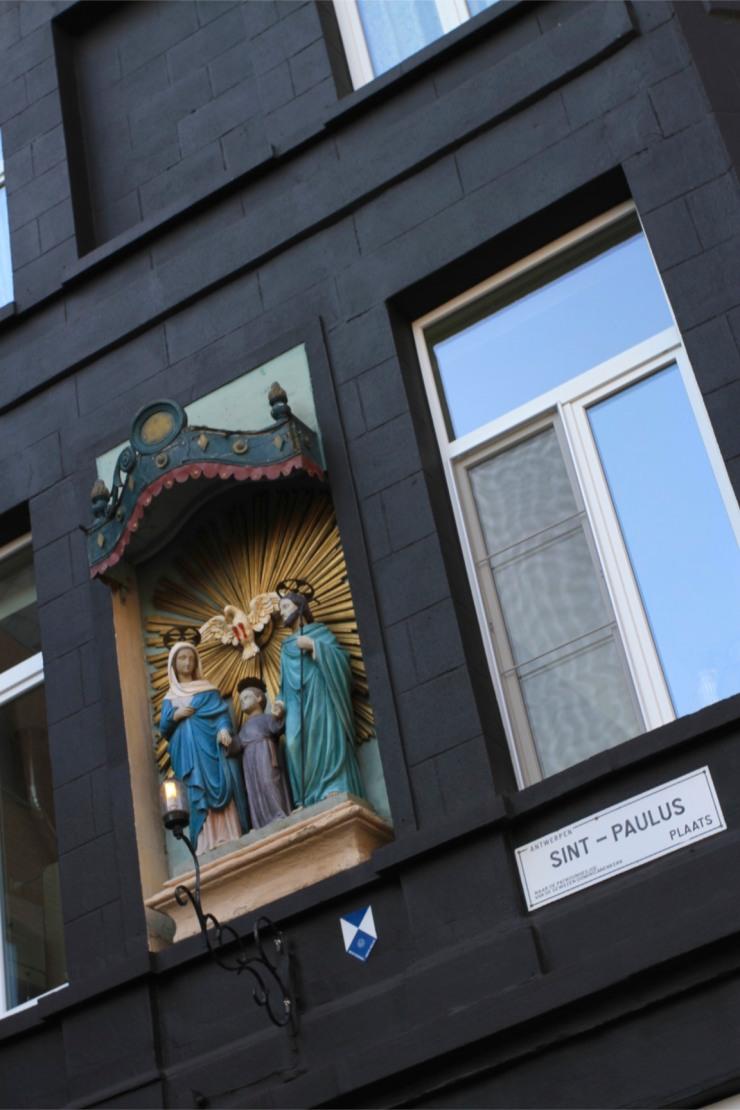 Shrine on a house, Antwerp, Belgium