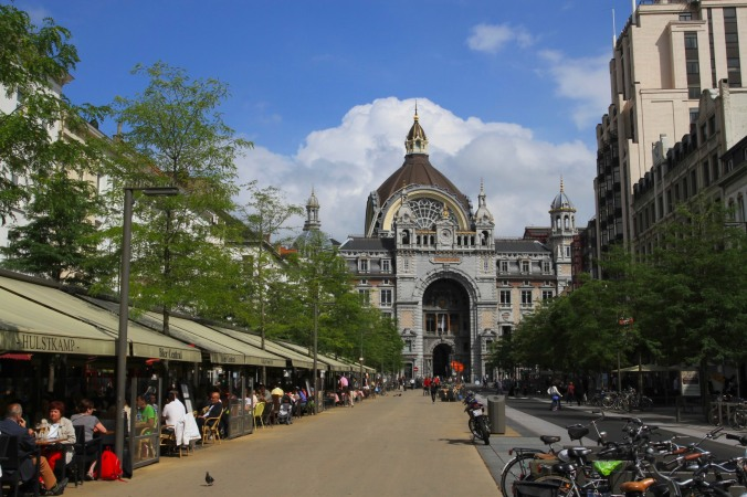 The ornamental Centraal Station, Antwerp, Belgium