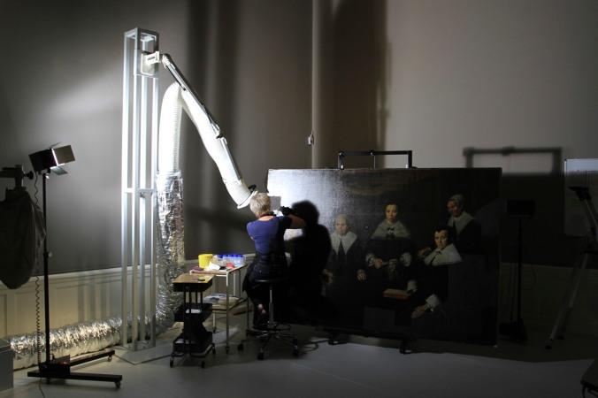 Restoraion work, Frans Halls Museum, Haarlem, Netherlands