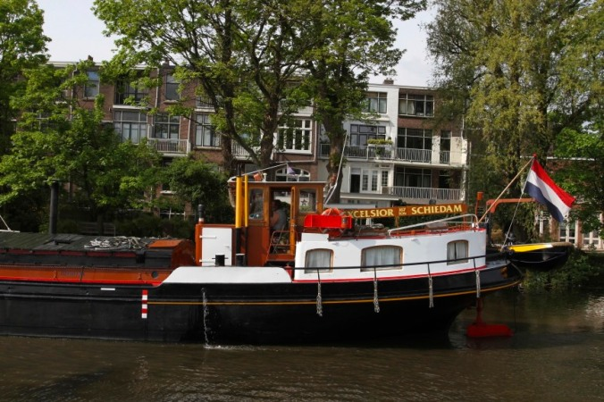 Boats on a canal, Schiedam, Netherlands