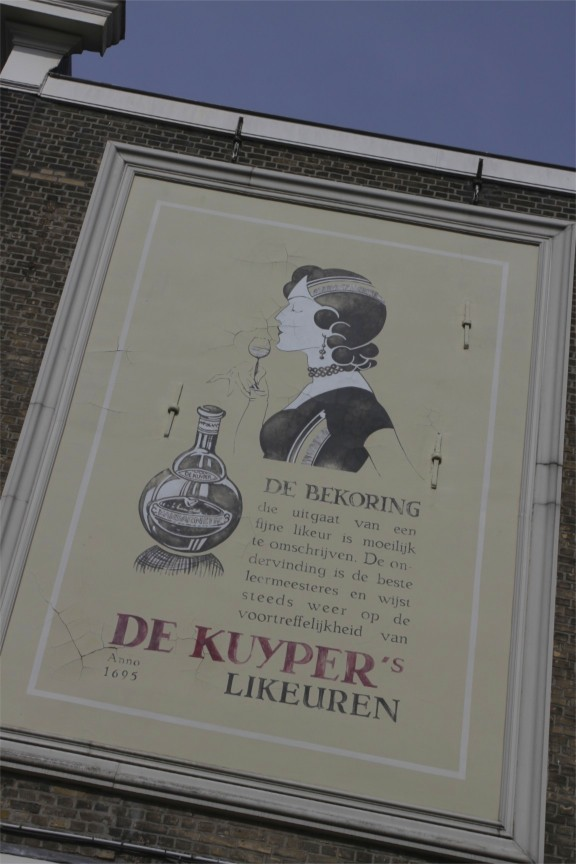 Jenever advertisment, Schiedam, Netherlands