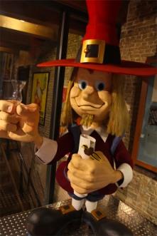 Strange characiture of a Dutchman, Jenever Museum, Schiedam, Netherlands