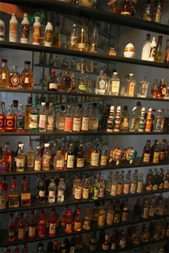 Miniture bottles, the Jenever Museum, Schiedam, Netherlands