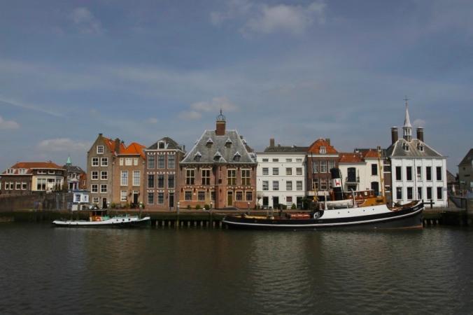 Boats in Maassluis harbour, Netherlands