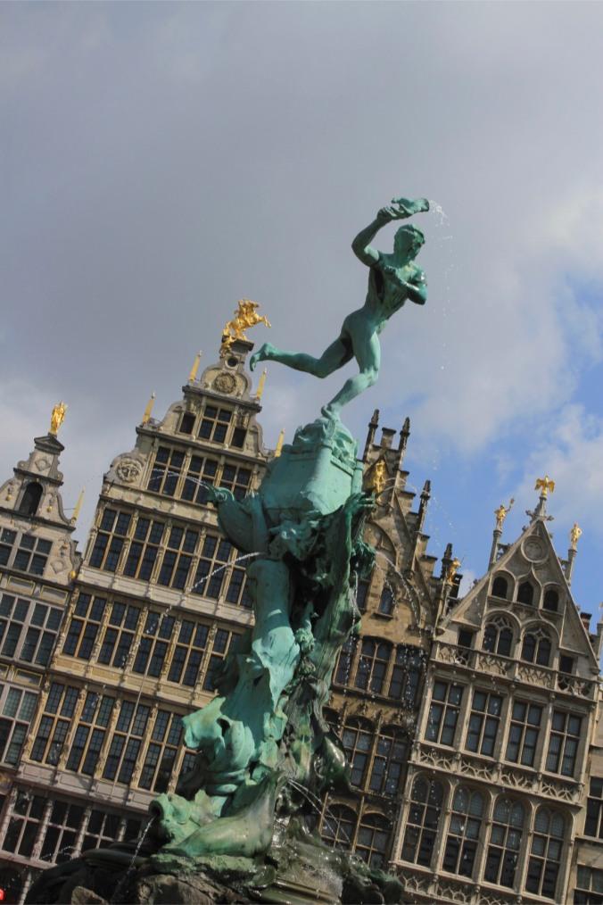 The legend of Druon Antigoon and Silvius Brabo, Antwerp, Belgium