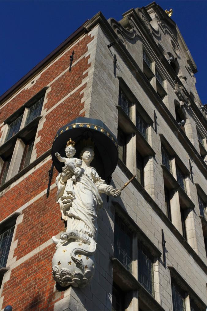 Saint statue, Antwerp, Belgium