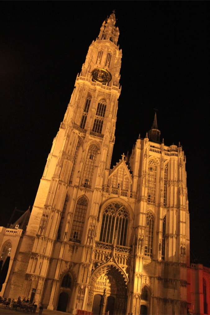 Cathedral at night, Antwerp, Belgium
