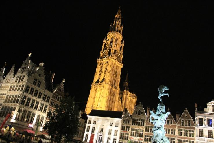 Cathedral at night, Antwerp, Belgium
