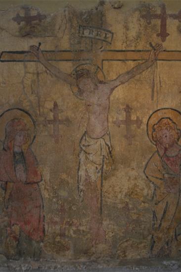 Medieval painting, Sint Pietersabdij, Ghent, Belgium
