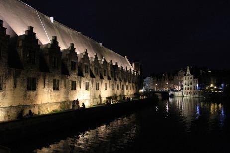 Ghent at night, Belgium