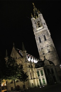 Ghent Belfry at night, Belgium