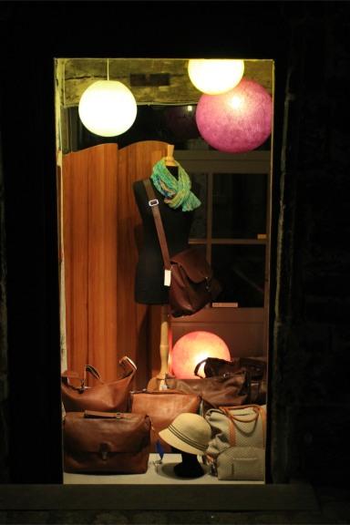Shop windows at night, Ghent, Belgium