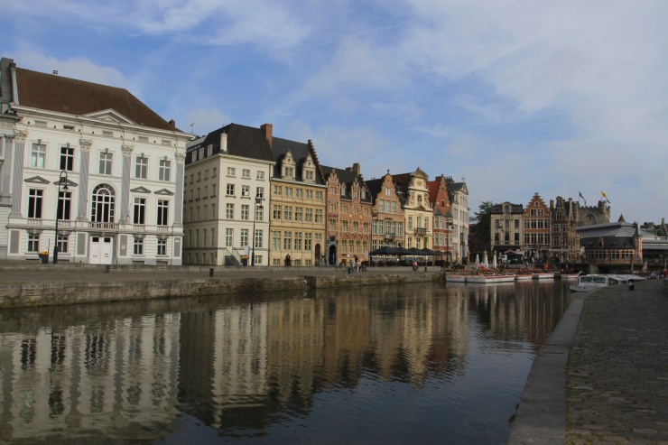 The Medieval harbour of Graslei, Ghent, Belgium