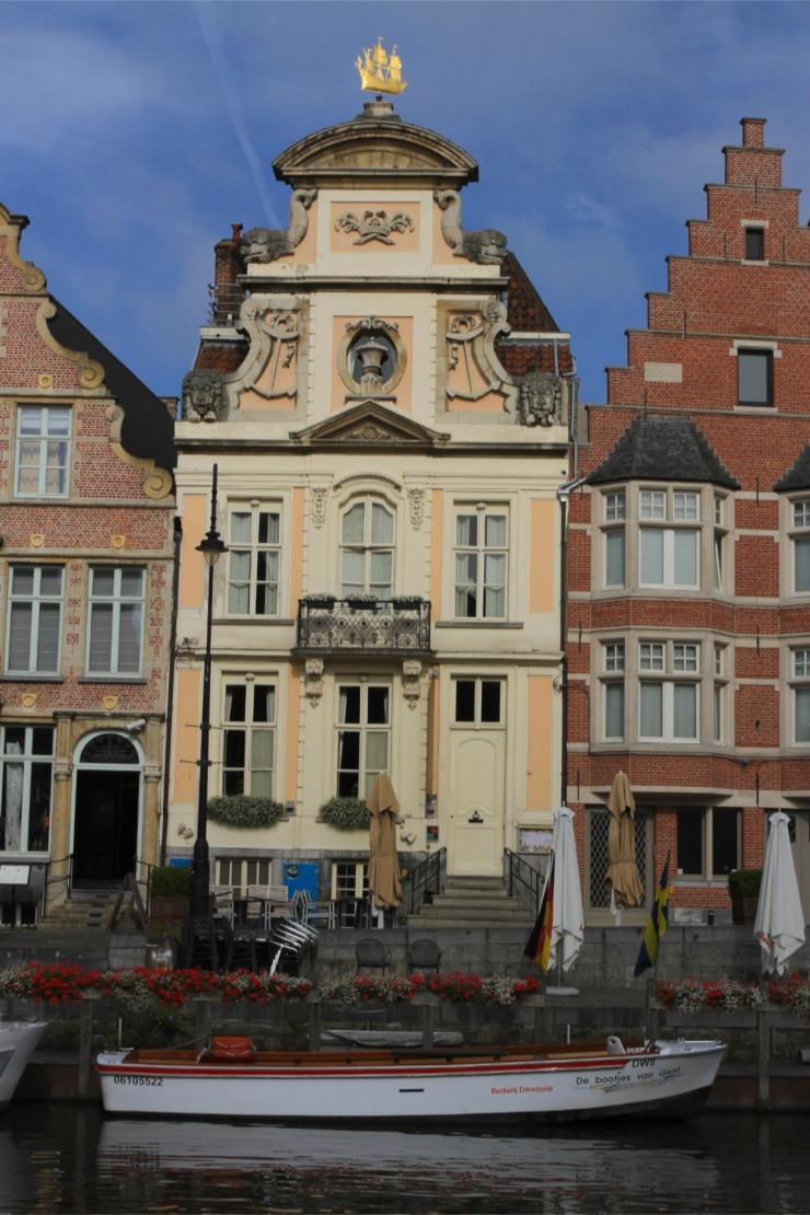 The Medieval harbour of Graslei, Ghent, Belgium