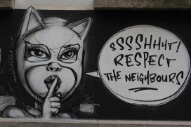 Socially responsible street art in Ghent, Belgium