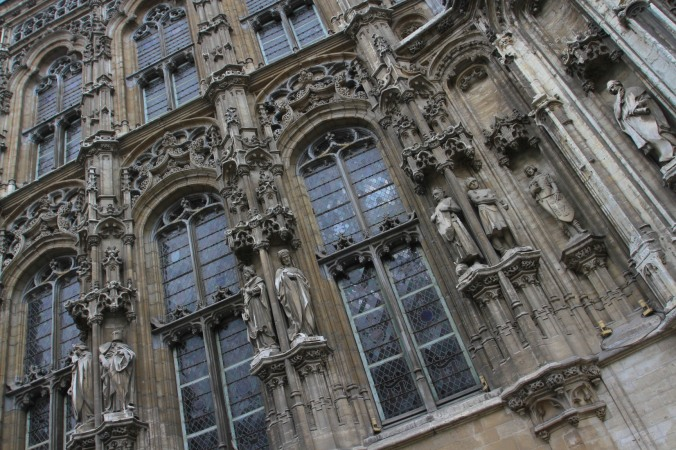 Detail from the Stadhuis, Ghent, Belgium