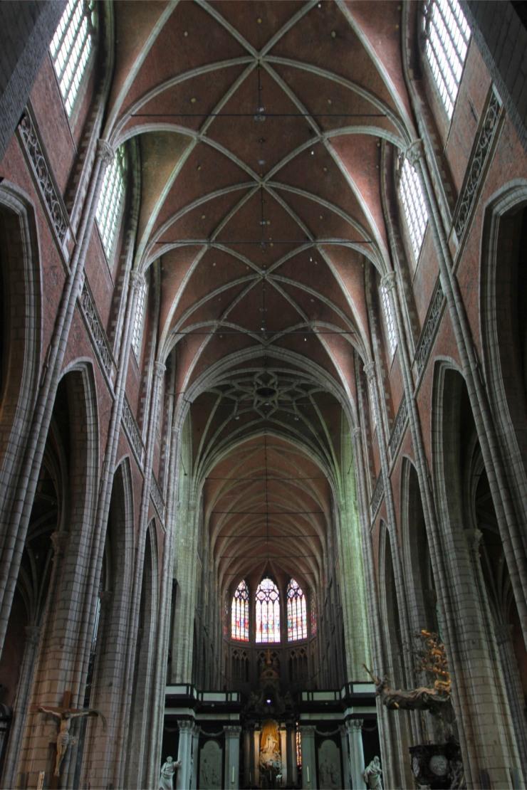 Interior of Sint-Baafskathedraal, Ghent, Belgium