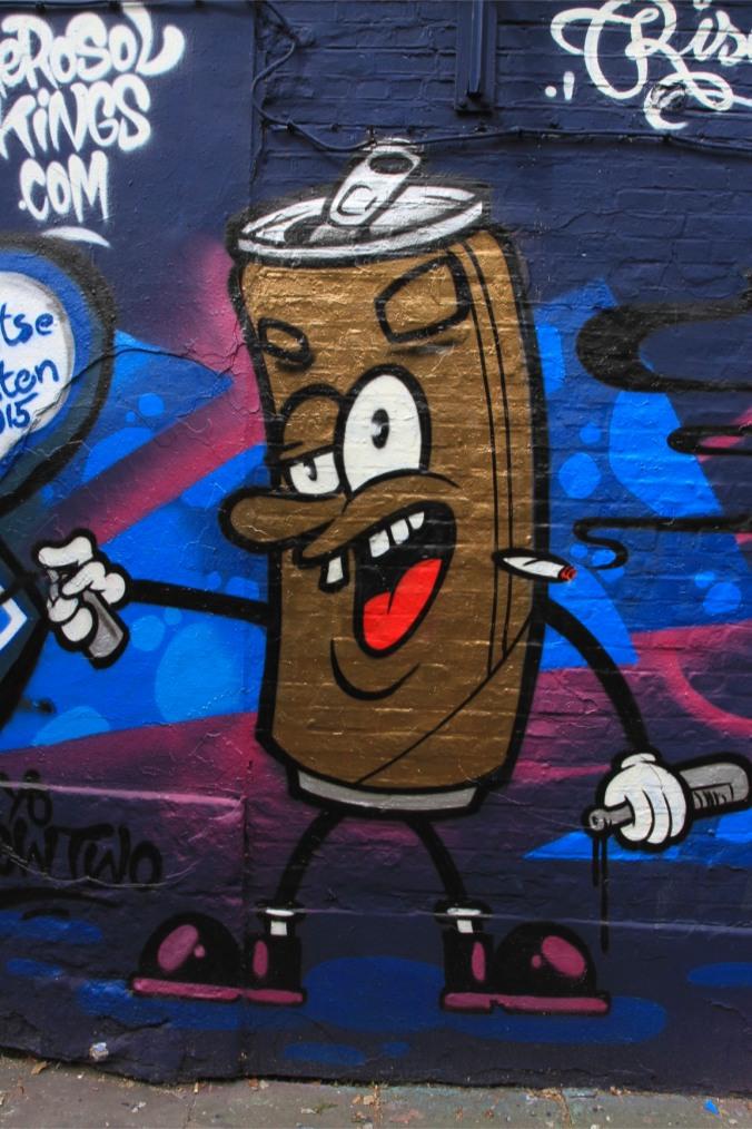 Street art on Werregarenstraat in Ghent, Belgium