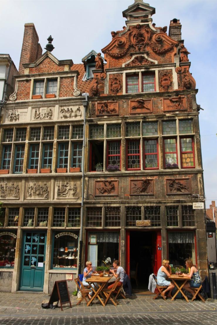 Patershol district, Ghent, Belgium