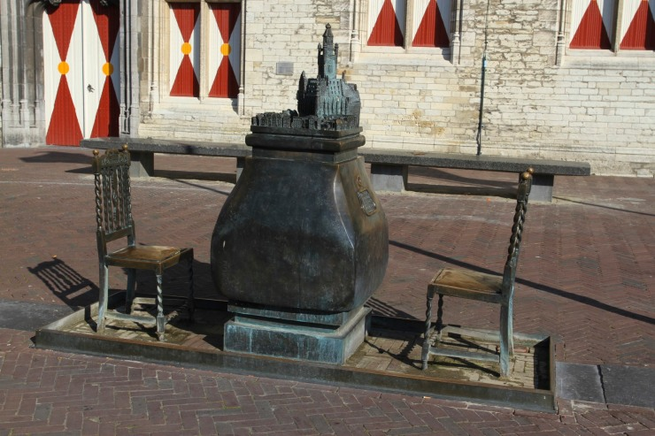 Statue outside the Stadhuis, Middelburg, Netherlands