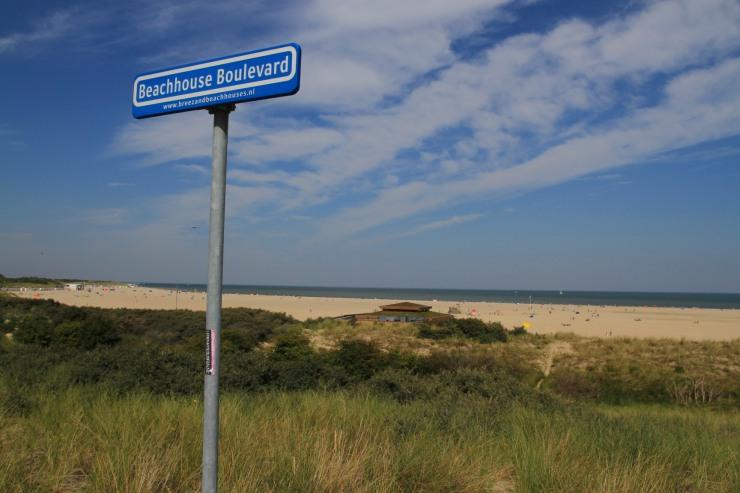 Beaches near Veerse Gatdam, Delta Works, Zeeland, Netherlands