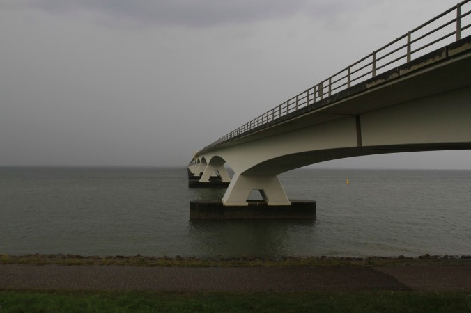 The Zeeland Bridge, near Zierikzee, Zeeland, Netherlands