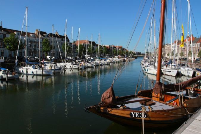 Old harbour, Middelburg, Zeeland, Netherlands