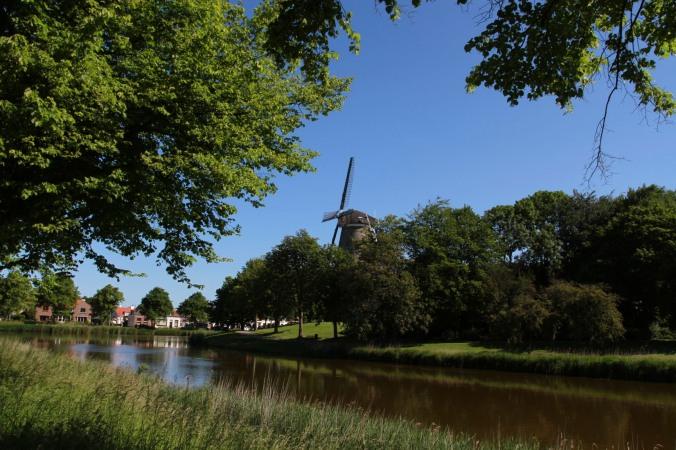 Windmill, Middelburg, Zeeland, Netherlands