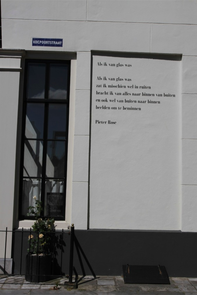 Poetry on a wall, Middelburg, Netherlands