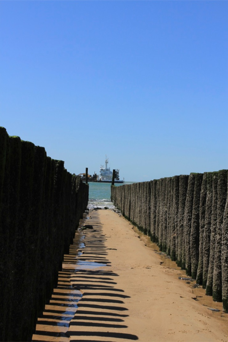 Beaches and boats in Zeeland, Netherlands
