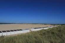 Beaches near Oosterscheldekering, Delta Works, Zeeland, Netherlands