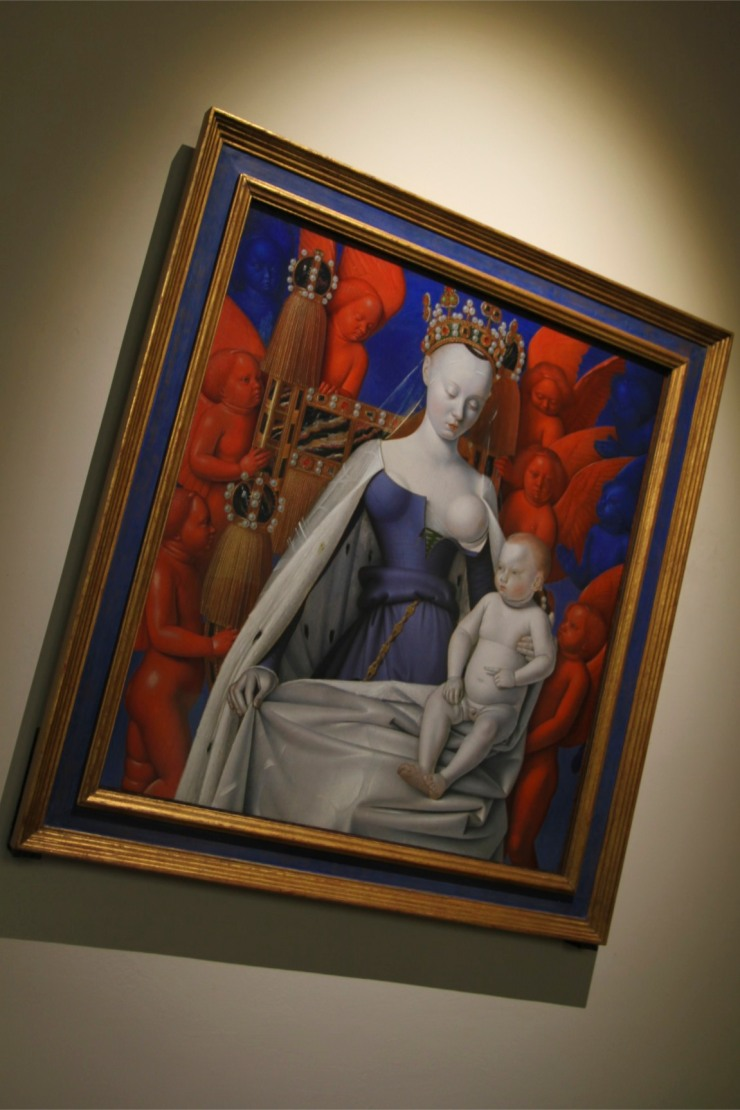 Virgin and Child Surrounded by Angels, painting of Agnes Sorel, Antwerp, Belgium