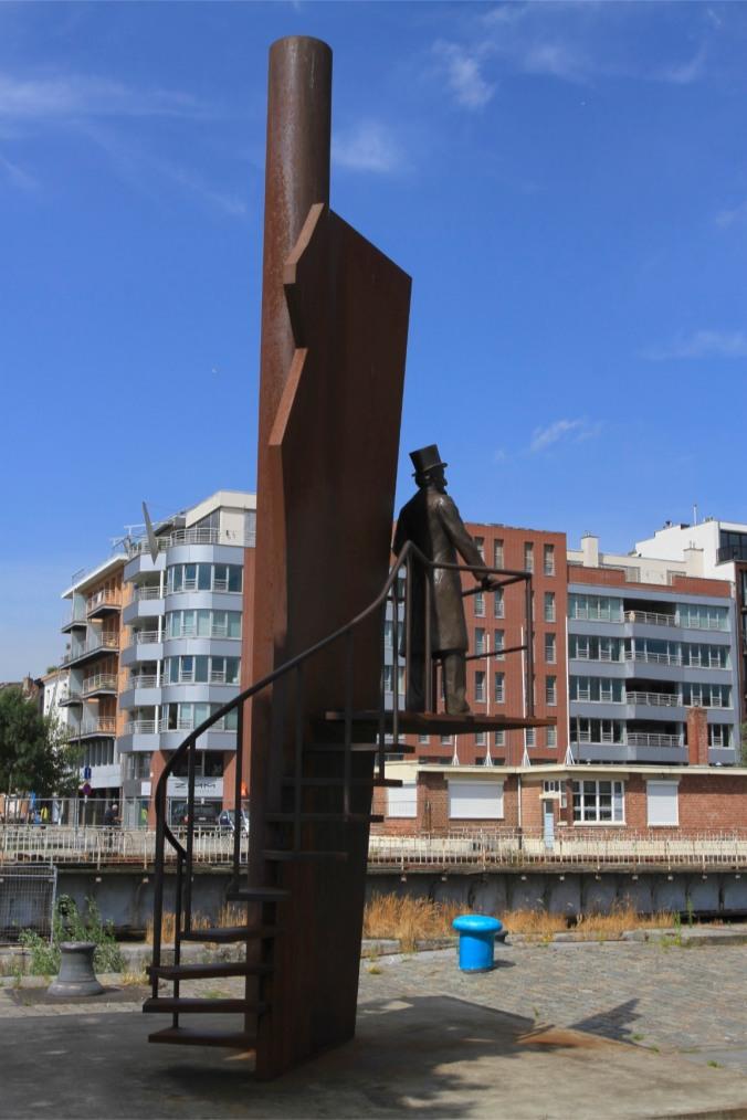 Old port area of Eilandje, Antwerp, Belgium