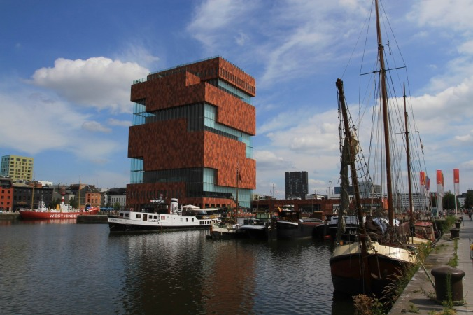 MAS in the old port area of Eilandje, Antwerp, Belgium