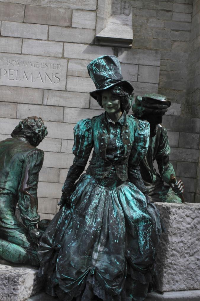 Living statue, Antwerp, Belgium