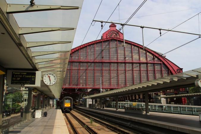 Antwerp's ornate Central Station, Belgium