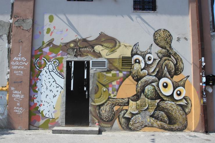 Street art, Savamala, Belgrade, Serbia